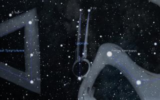 Созвездие Циркуль — весеннее совездие Южного полушария