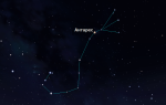 Южное зодиакальное  созвездие Скорпион