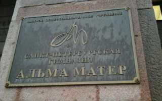АЛЬМА МАТЕР — одна из старейших частных школ Петербурга