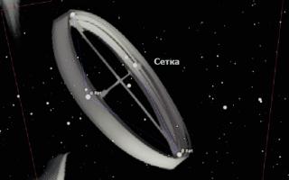 Созвездие Сетка — тонкие нити в окуляре телескопа