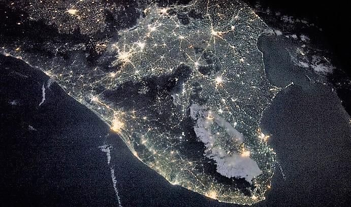 Индия из Космоса