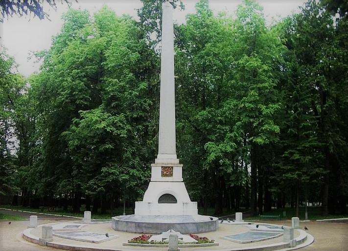 Обелиск на могиле К.Э. Циолковского