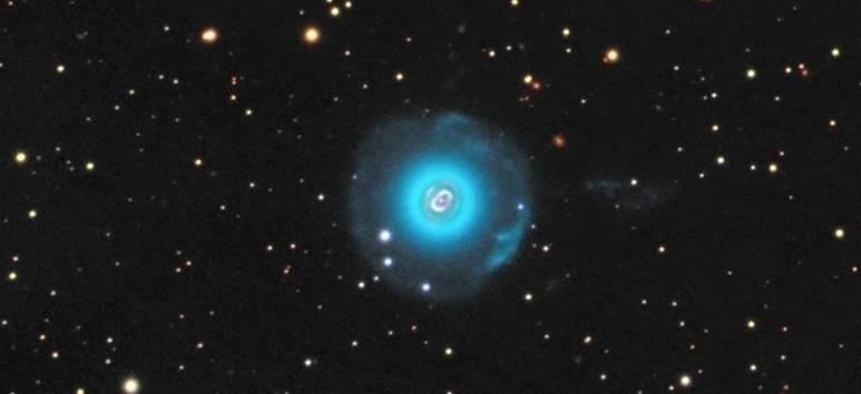 """Планетарная туманность NGC7662 """"Голубой снежок"""""""