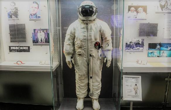 Скафандр космонавта в музее Циолковского