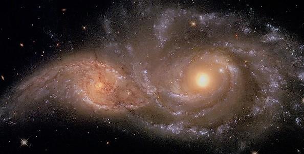 Слияние двух галактик