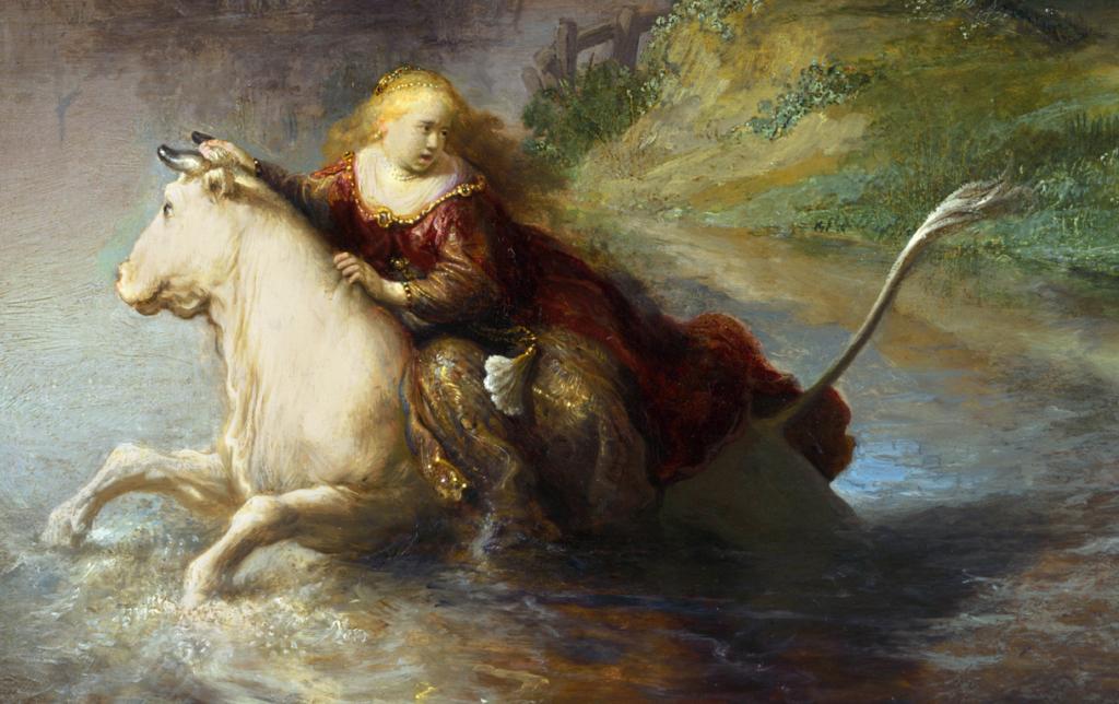 """Рембрандт """"похищение Европы"""""""