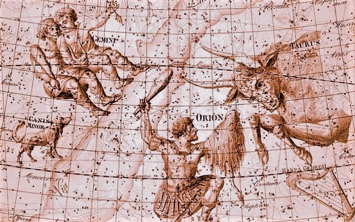 Старинная карта звездного неба