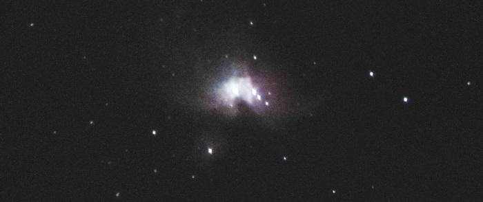 Туманность Ориона в телескоп