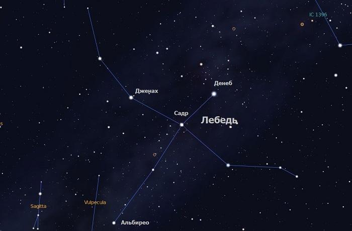 Звёзды созвездия Лебедь