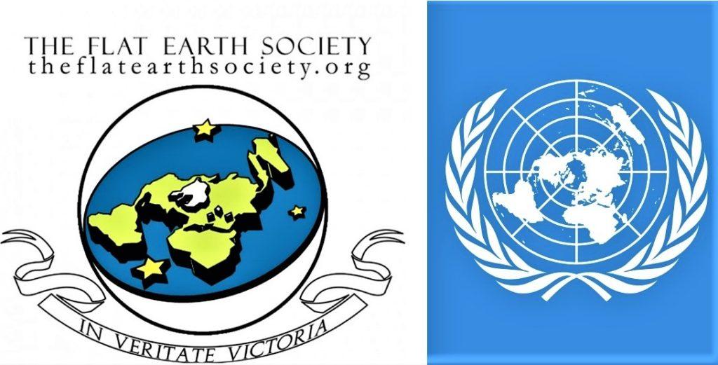 Логотип Общества Плоской Земли