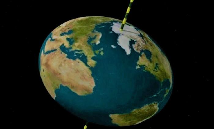 Сплюснутая у полюсов Земля (изображение)