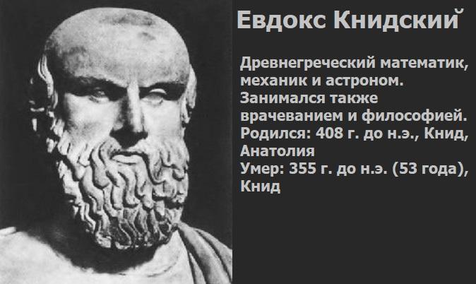 Древнегреческий математик Евдокс Книдский