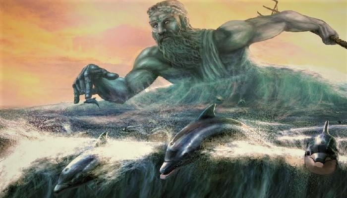 Посейдон и дельфины (изображение)