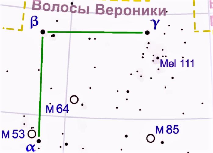 Звёзды созвездия Волосы Вероники