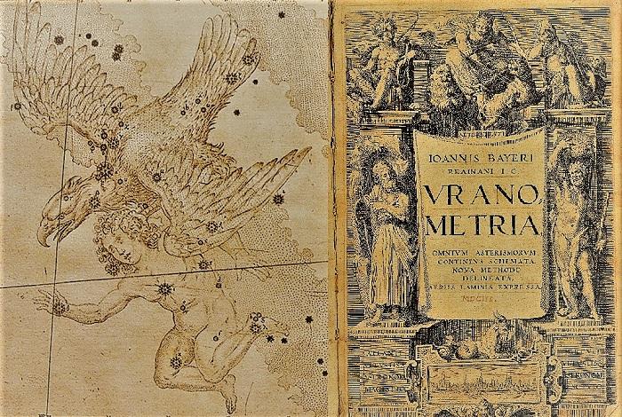Уранометрия Байера (фрагмент и титульный лист)