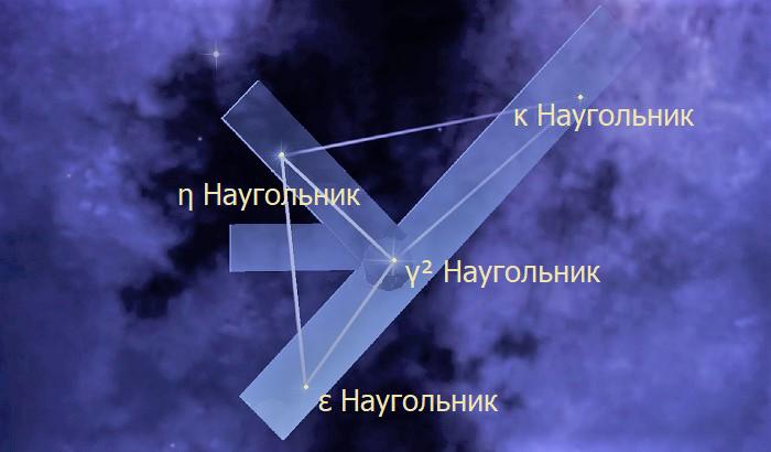 Звёзды созвездия Наугольник