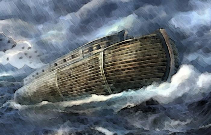 Ноев ковчег при Всемирном потопе
