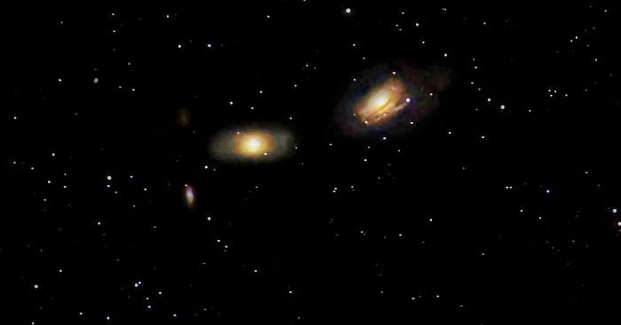 NGC 3166 и NGC 3169