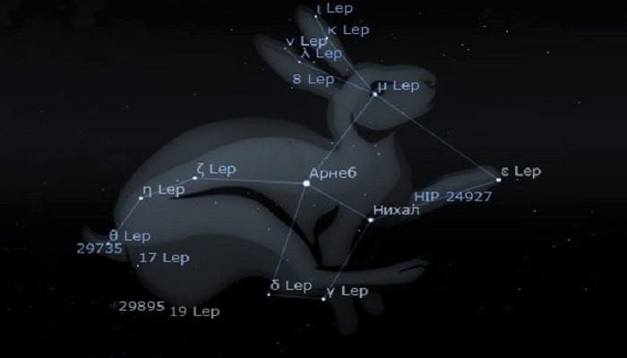 Звёзды созвездия Заяц