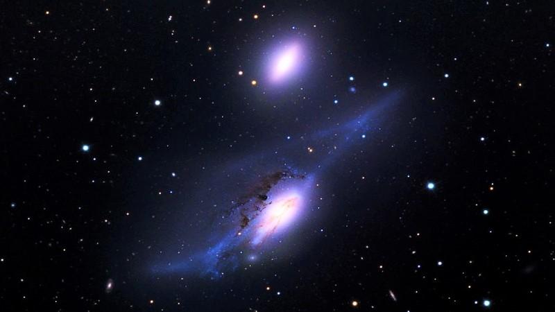 Галактическая пара Глаза Девы
