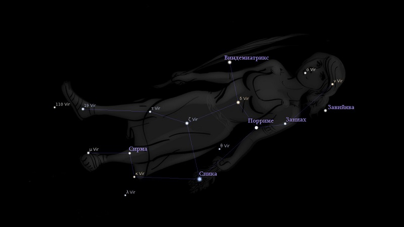 Звёзды созвездия Дева