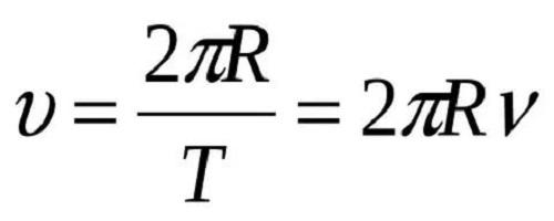 Формула линейной скорости