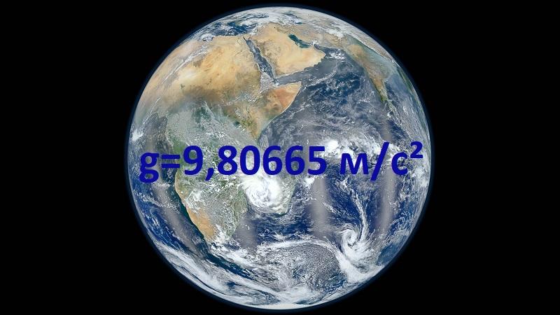 g=9,80665 м/с²