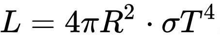 Формула светимости звезды