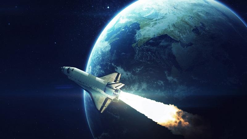 Космический аппарат в космосе