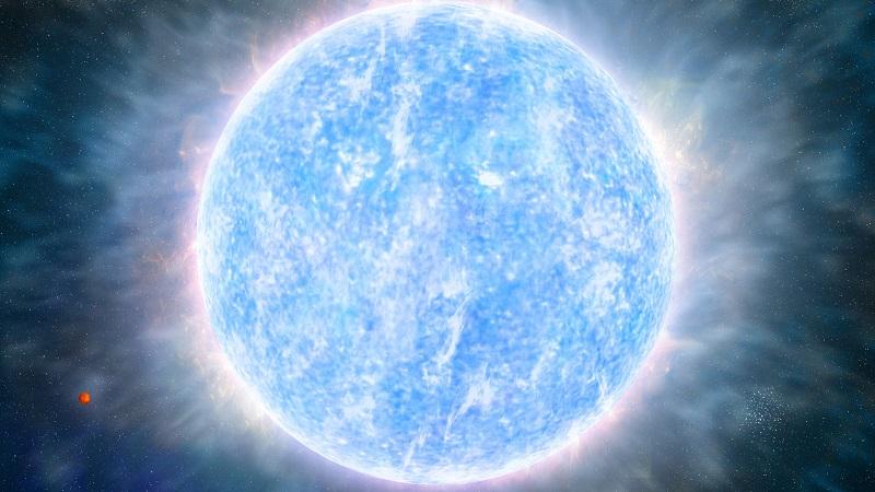 Звезда R136a1 из туманности Тарантул (Одна из самых массивных звёзд)