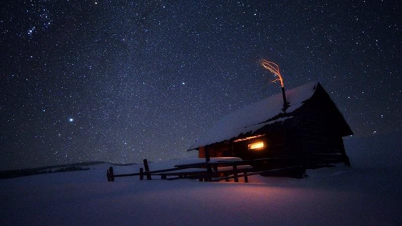 Зимнее ночное небо