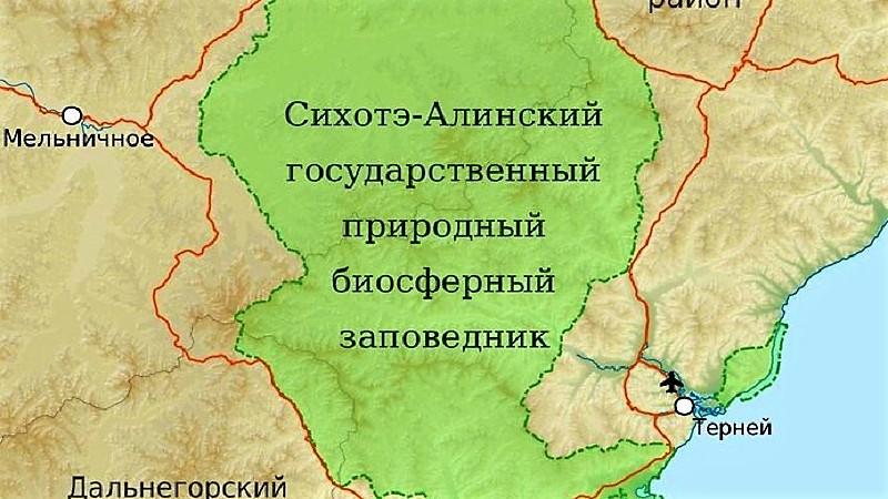 Заповедник на карте