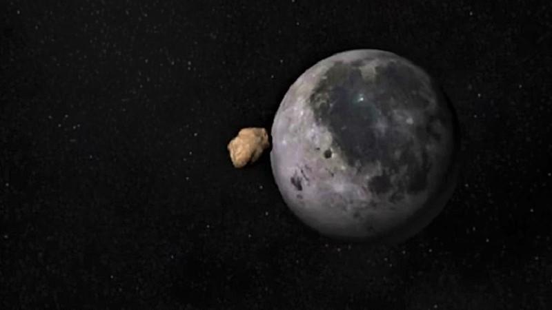 Метеорит падает на луну