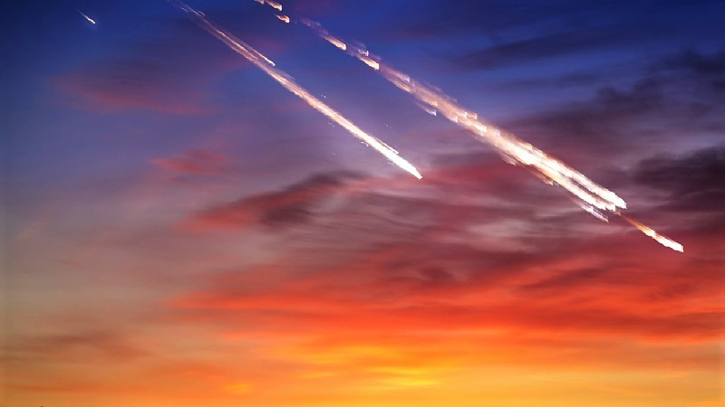 Сгорание метеоров в атмосфере