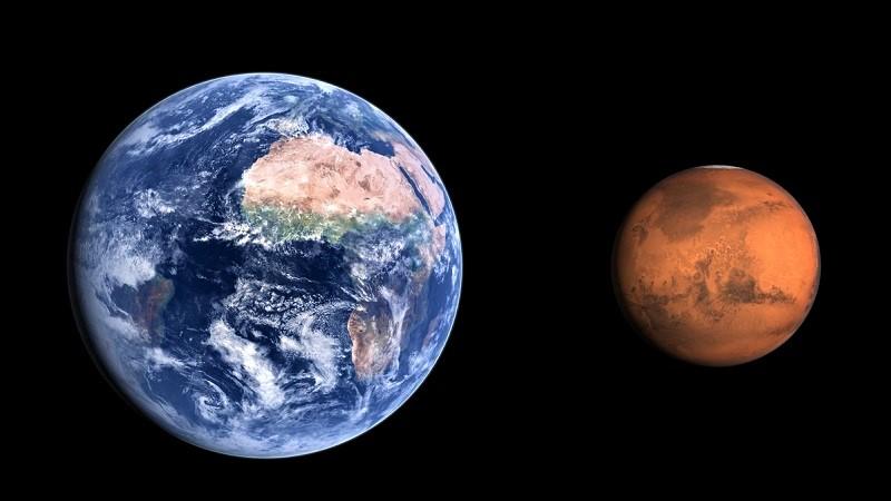 Размеры Земли и Марса