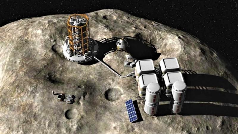 Добыча ресурсов на астероиде