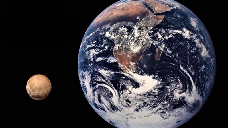 Плутон и Земля