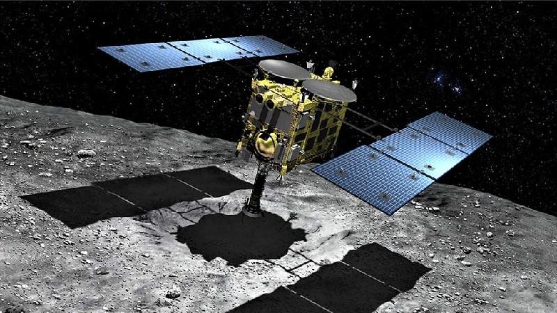 Японский космический аппарат Хаябуса-2, направленный к астероиду Рюгу