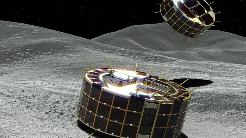 Модули-роботы космического зонда