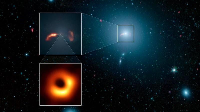 Снимок чёрной дыры в галактике М87